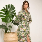Flowery Green Dress Barbara