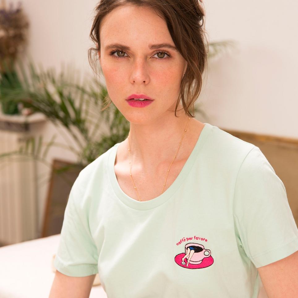 T-shirt vert Café