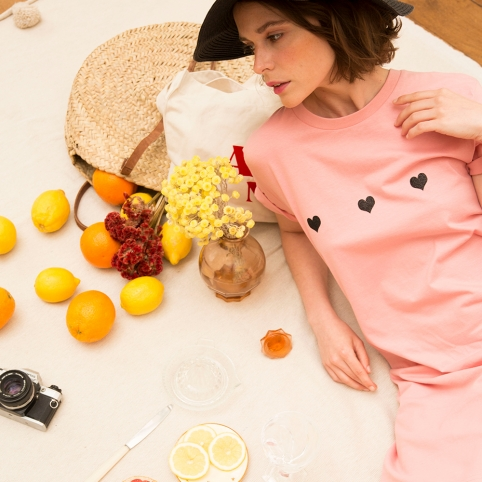 Robe T-shirt Celine Rose