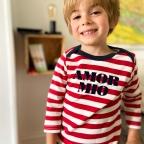 T-Shirt Marinière ML Rouge BABY
