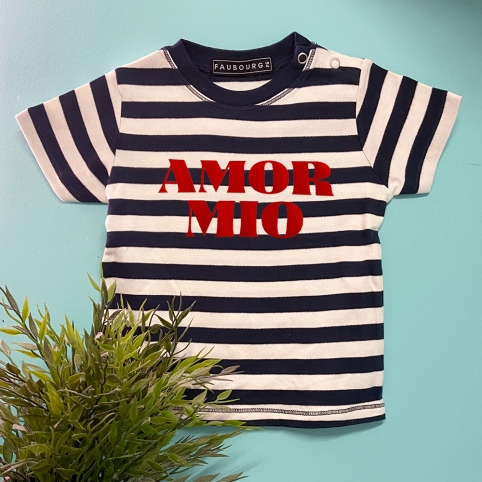 T-Shirt Marinière MC Bleu BABY