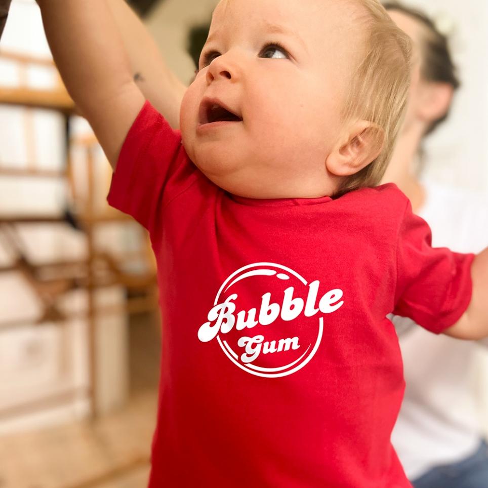 T-Shirt Bubble Gum Rouge BABY