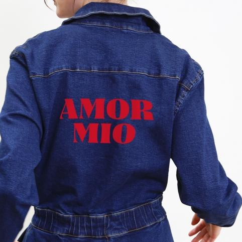 Combinaison en Denim Foncé Amor Mio