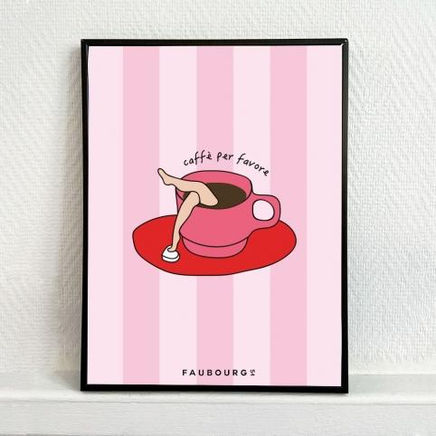 Poster Caffè per favore
