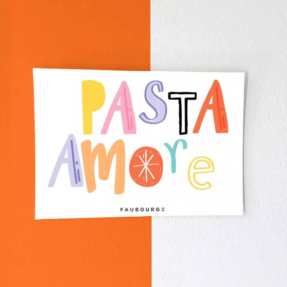 Carte Postale Pasta Amore