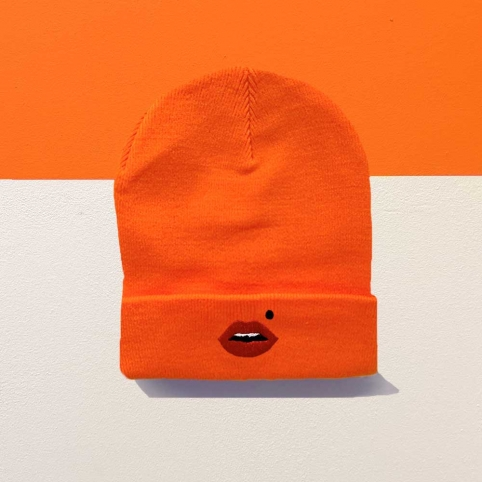 Beanie Cindy Orange Fluo