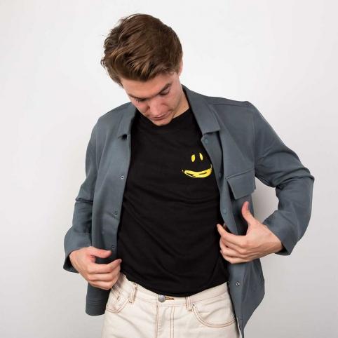 T-Shirt Banane Smile Blanc Homme