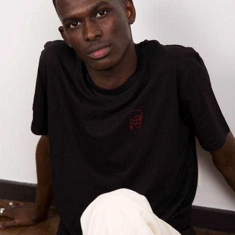 T-Shirt Squelette Noir Homme