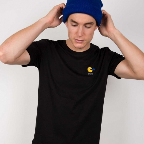 Black T-Shirt Pac Man