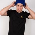 T-Shirt Pac Man Brodé Noir Homme