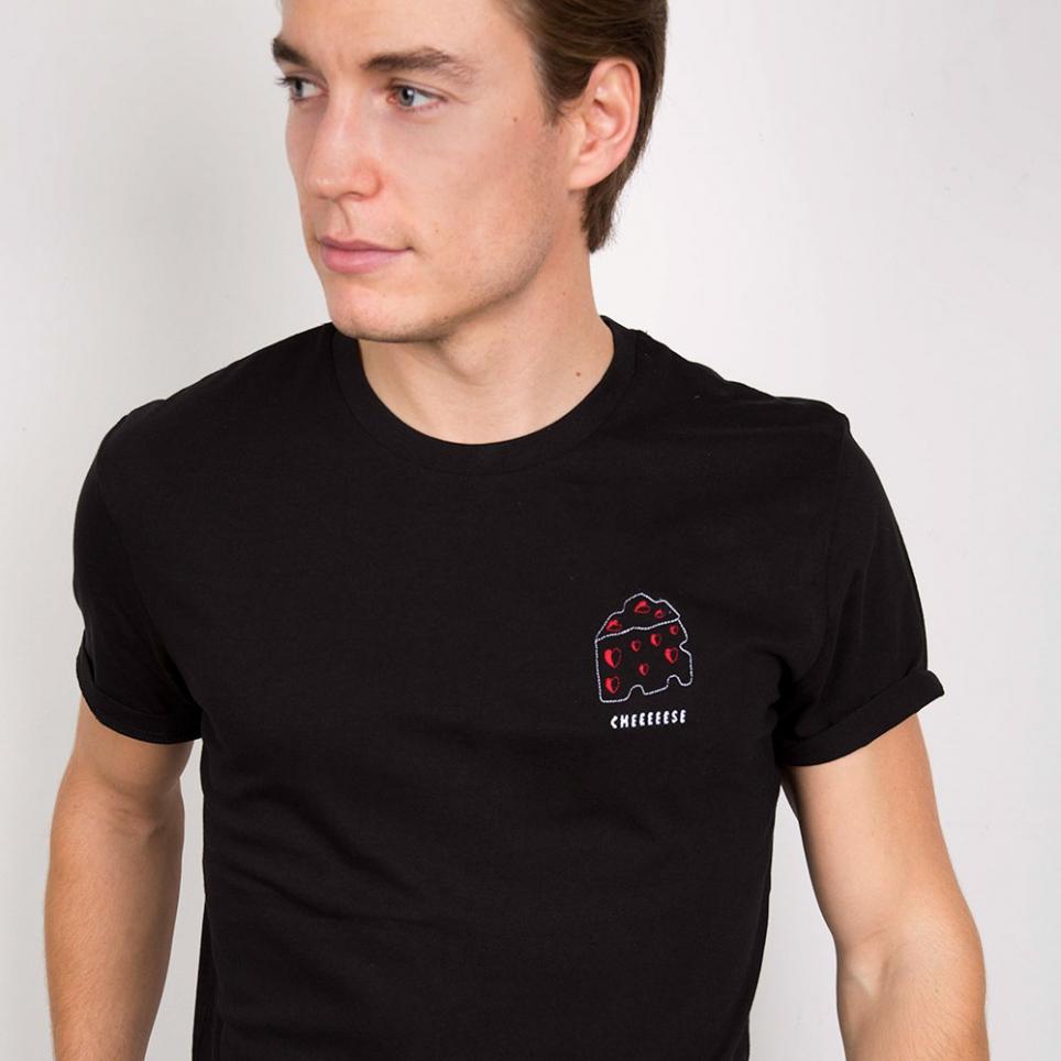 T-Shirt Cheese Noir Homme