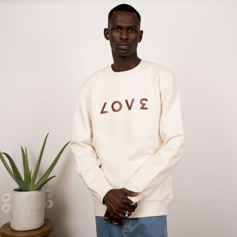 Cream Sweatshirt Love