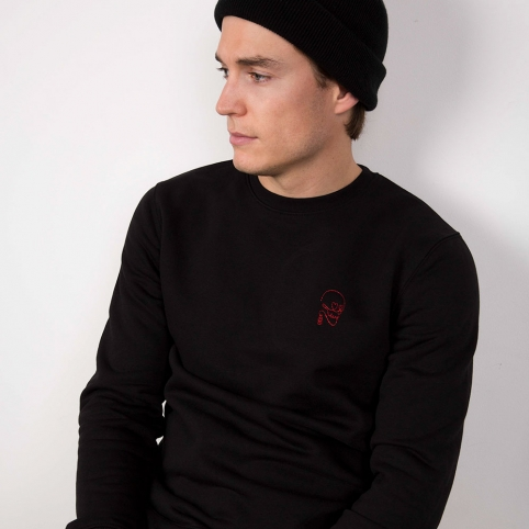 Black Sweatshirt Skeleton