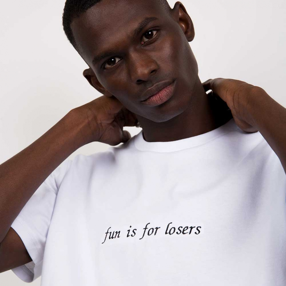 T-Shirt Fun Is For Losers Blanc Homme