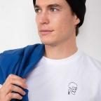 T-Shirt Squelette Blanc Homme