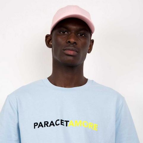 T-Shirt Paracetamore Bleu Ciel Homme
