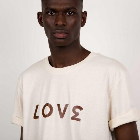 T-Shirt Love Crème Homme