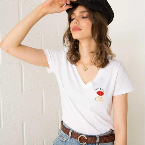 White T-Shirt Pasta Time