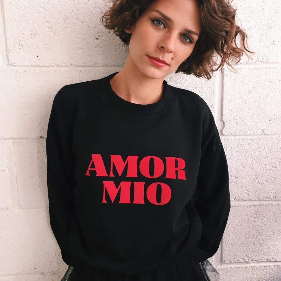"Sweat ""Amor Mio"" Noir"