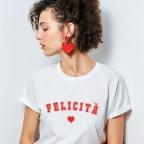 T-Shirt Felicità Blanc