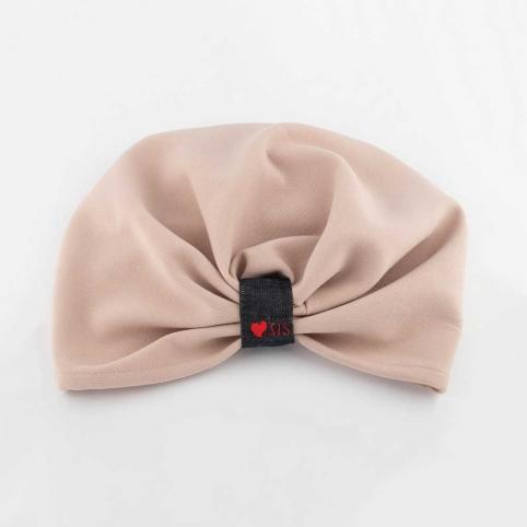 Turban Morgana Sis Rose Poudre en tissu