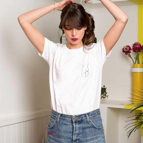 T-Shirt Silhouette Blanc