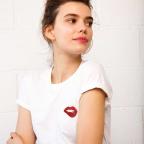 T-Shirt Glitter Martina Blanc