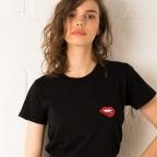 T-Shirt Glitter Martina Noir