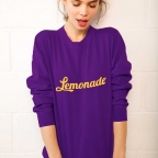 Sweat Lemonade Violet et Jaune