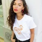T-Shirt Tanto Love Gold Blanc