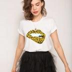T-Shirt Martina Léopard Blanc