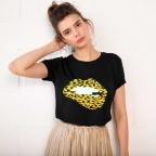 T-Shirt Martina Léopard Noir