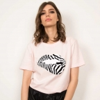 T-Shirt Martina Zèbre Rose
