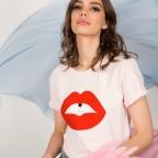 T-Shirt Bouche Vanessa Rose