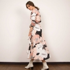Robe Portefeuille Ludovica Rose Soie