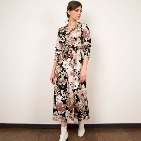 Baby Pink Wrap Dress Ludovica