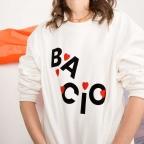 Sweat Bacio Blanc Cassé