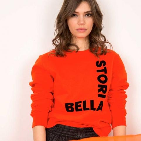 Orange Sweatshirt Bella Storia