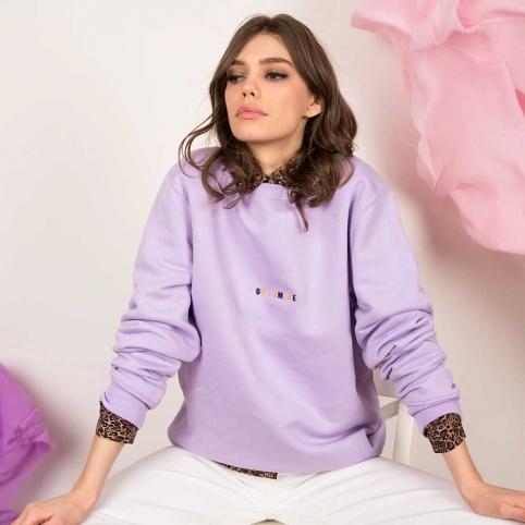 Purple Sweatshirt 100% Amore