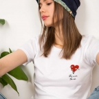 T-shirt Love Is in the Air Blanc
