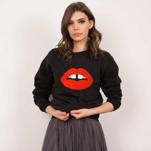 Sweat Bouche Vanessa Noir