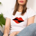 T-shirt Bouche Vittoria Blanc