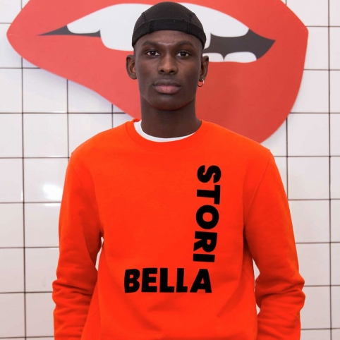 Orange Sweatshirt Bella Storia Man