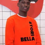 Sweat Bella Storia Orange Homme