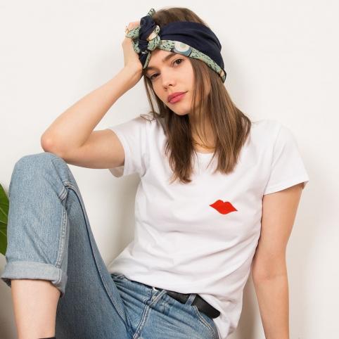 T-Shirt Vittoria Brodée Blanc
