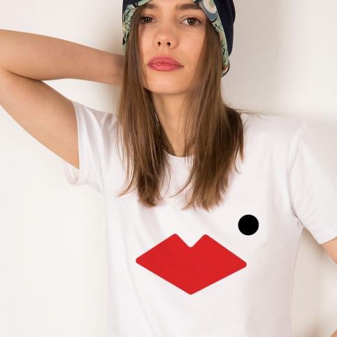 T-Shirt Bouche Célia Blanc