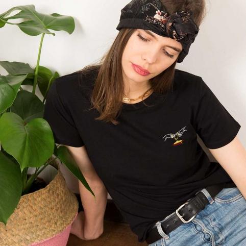 T-Shirt Adamo Pasta Lover Noir