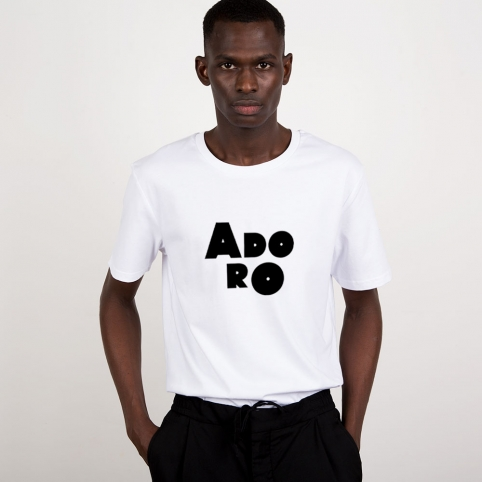T-Shirt Adoro Blanc Homme