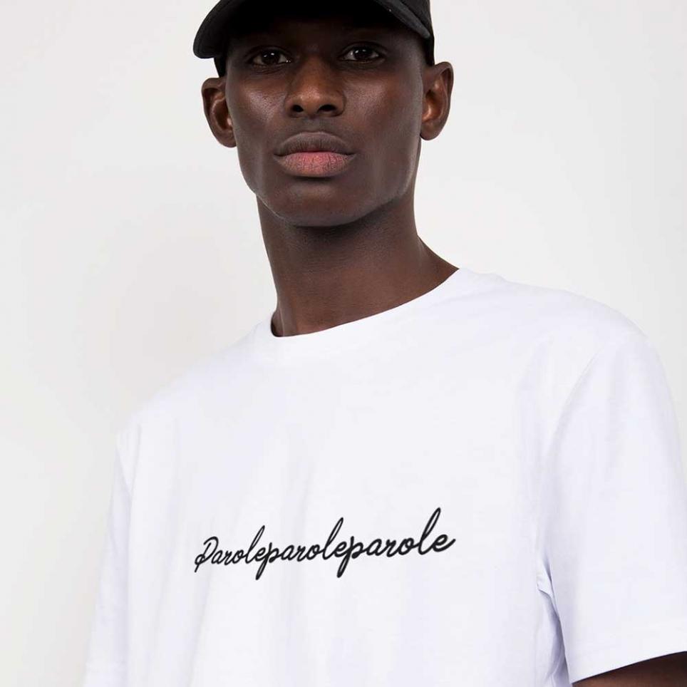 T-Shirt Parole Blanc Homme