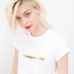 T-shirt Imparfaite Gold Blanc